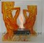 """Настольный биокамин """"Танцующая в огне"""""""